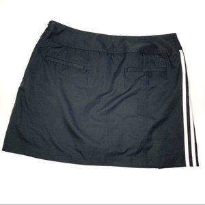 Adidas Clima Cool Sz 10 Black Skort 3 stripes